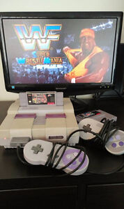 Super NES Multiplayer Bundle: all cables, 2 controllers, 2 games