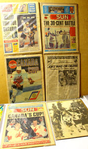 Wayne Gretzky Milestone events Newspaper lot