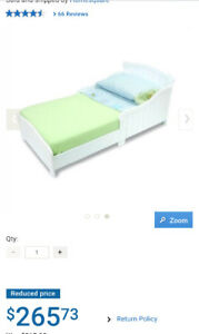 Toddler bed (white)
