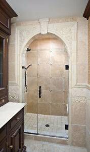 Luxurious Glass Shower Door with Hinges and Handles - New! Regina Regina Area image 4