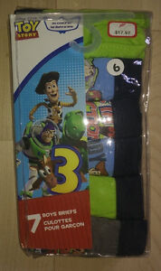 NEW in package 7 boys' Toy Story briefs, size 6T