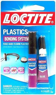681925 Loctite Plastics 2pc Bonding System Super Glue Metal Leather Ceramic Wood