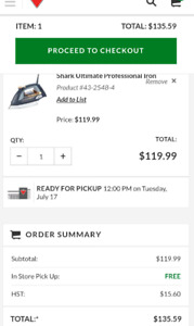 Shark® Ultimate Professional Iron $50