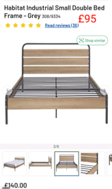 Industrial small Double bed frame only £95. RBW Clearance Outlet Leice