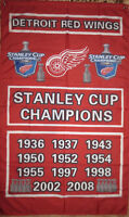 Detroit Red Wings Stanley Cup Champions Flags