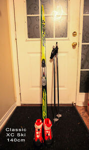 Kids cross country ski set for $100 (used only once)