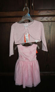 Girls pink fancy dress, & pink cardigan size 12/18m *NEWw/tags