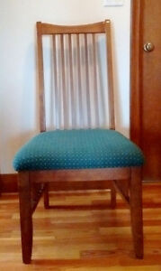 4 Beautiful Solid Wood Upholstered Dining Chairs