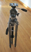 #4 Gitzo pan tilt head, with Gitzo heavy duty carbon leg tripod