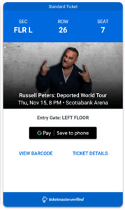 Russell Peter Live Tonight At Air Canada Center!