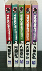 5 TRIGUN MAXIMUM BOOKS BY YASUHIRO NIGHTOW