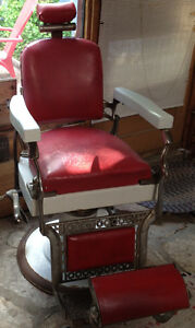 Antique Koken Barber's Barbershop Chair