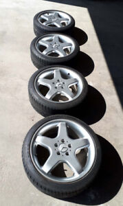 "18"" Mercedes Rims with Continental DWS Tires 225-40-R18"
