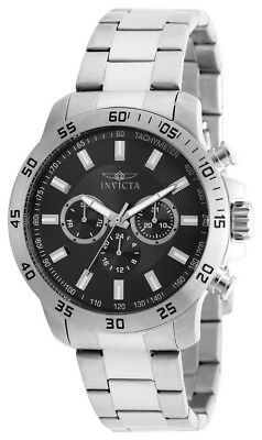 Invicta Specialty 21502 Men's Round Black Analog Day Date 24 Hour Watch