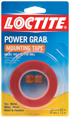 Loctite  Power Grab  1-1/2 in. W x 60  L Mounting Tape  Clear
