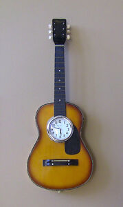 Custom Guitar Clock - Great gift for the musician in your life