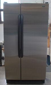 Réfrigérateur en inox à porte côte à côte Kenmore