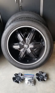 "22 "" DUB Rims and Toyo Tires for sale"
