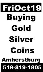 FRi Oct 19 Amherstburg Buying COINS + JEWELRY