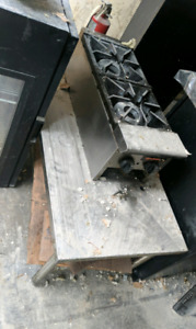 Great stainless steel stove with worktop
