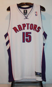REEBOK AUTHENTIC VINCE CARTER TORONTO RAPTORS BASKETBALL JERSEY