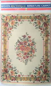 "Miniature Carpet (WOVEN)  Medium 6"" x 9"" )"