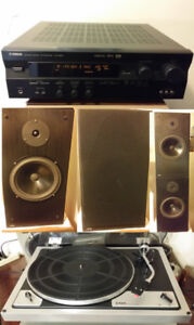 Yamaha Receiver JPW Speakers Turntable Home Stereo
