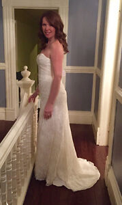 Brand New, Never Worn! Gorgeous Ivory Lace Sweetheart Neck Gown St. John's Newfoundland image 3