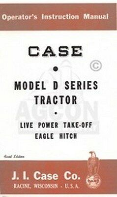 Case D Dc-3 Dc-4 Do Ds Series Tractor Operator Manual
