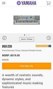 DGX230 76-key Yamaha portable grand piano