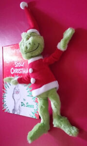 ▀▄▀Dr Seuss GRINCH WHO STOLE CHRISTMAS Plush Stuffed Toy+