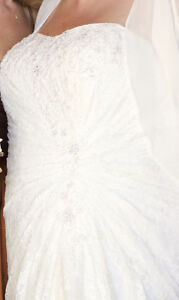 Beautiful and BARELY WORN PLUS-SIZE lace wedding gown