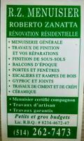 514-262-7473 ouvrier travaux rénovation réparation résidentiel