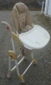 Fold away high chair