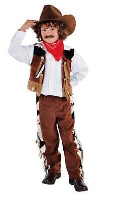 Cowboy Wilder Westen Country Western Trapper Kostüm Cowboykostüm Anzug Hut Wes (Country Western Kostüm)