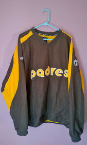 Vintage 1970's logo SF Padres pullover jacket by majestic