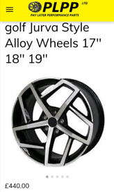 VW Golf OEM style alloy wheels 17'' 18'' 19''