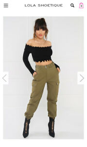 Cargo jogger pants - olive