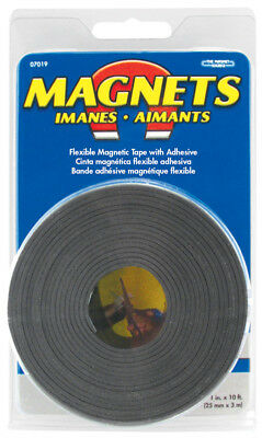 Master Magnetics 1 X 10 Roll Flexible Magnetic Tape With Adhesive 07019