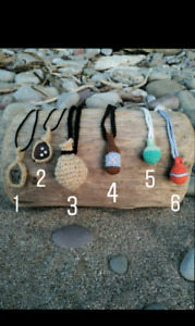 Micro Handmade Scented Textile Necklaces