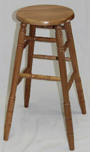 "29"" Oak Bar Stools (2)"
