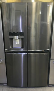 "LG 4 door Water/Ice Black stainless Fridge 36"" Wx36""Hx29""D $1899"