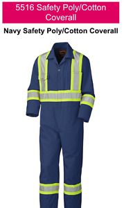 Pioneer 5516 Safety Poly/Cotton Coveralls size large/50