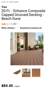 TrexEnhance. Beach Dune Grooved Edge Capped Composite Decking