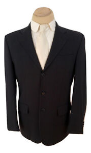 S Cohen Performance Blazer Black Jacket Wool Sport Men 40R