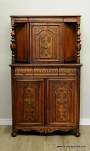 Antique Court Cupboard China Cabinet
