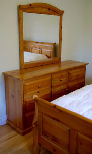Solid Pine Dresser with Mirror