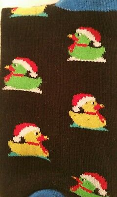 Christmas Socks Men Holiday Rubber Duckies Santa Hat Sox Fashion Footwear Gift](Christmas Rubber Duckies)