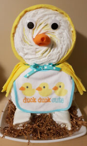 Duck Duck Cute diaper cake