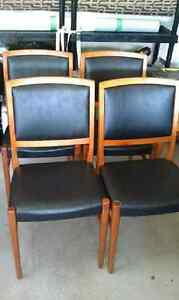 TOP OF LINE MID CENTURY SVEGARD MARKARYD TEAK DINING CHAIRS MINT